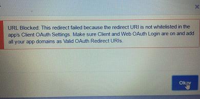Facebook URL Redirect Blocked Error – Marketing4WiFi Platform