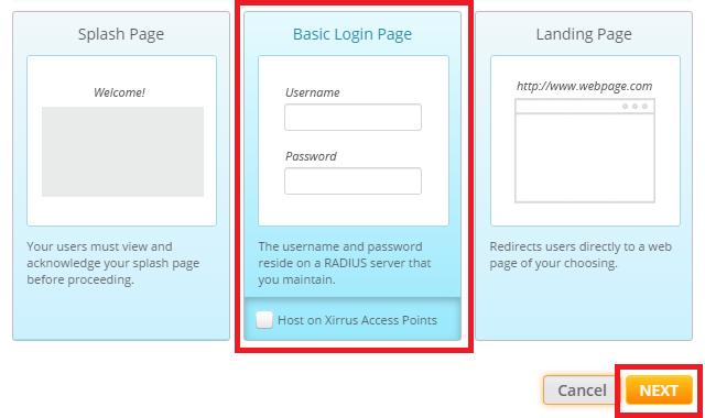 Configuration for Xirrus (Enterprise) Gateway Equipment