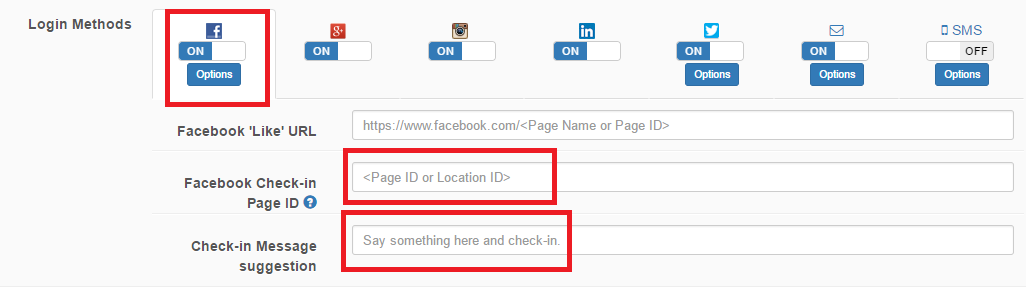 How do I enable Facebook Check-In Functionality