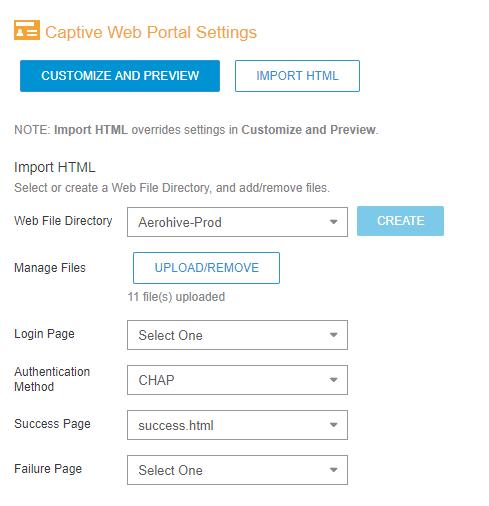 Configuration for Aerohive – Smart WiFi Platform Manual
